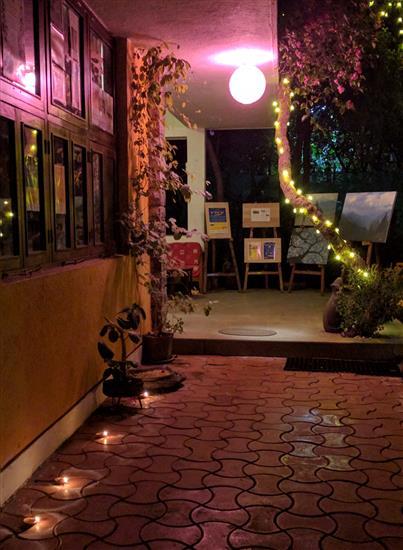 Diwali illumination at Indiaart Gallery