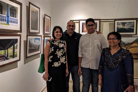 Dr. Gajanan Kanitkar and family with Dr. Prachee Sathe at Milind Sathe's photography show at Indiaart Gallery