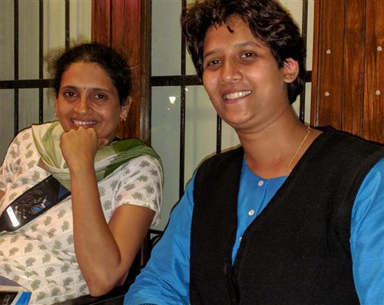 Gauri Kapre with Jui Kemkar at Indiaart Gallery