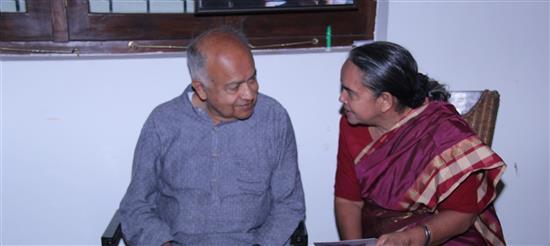 Dr. Swarnalata Bhishikar with Dr. Jayant Narlikar