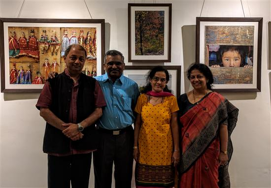 (L to R) Milind Sathe, Sunil Dadhe, Sushama Dadhe, Dr. Prachee Sathe at Indiaart Gallery
