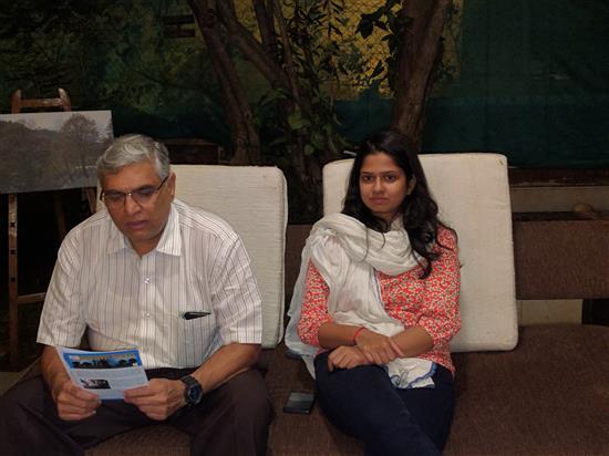 Nitin and Janhavi Bhide at Indiaart Gallery