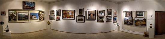 Panoramic view of the display