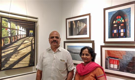 Shirish and Neelima Jogdeo at Milind Sathe's photography show at Indiaart Gallery