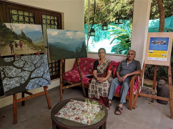 Smt. Hemlata and Shri. Sharad Hardikar at Indiaart Gallery