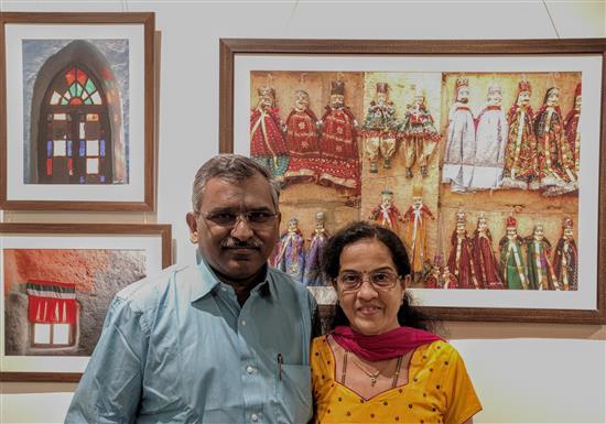 Sunil and Sushama Dadhe at Indiaart Gallery