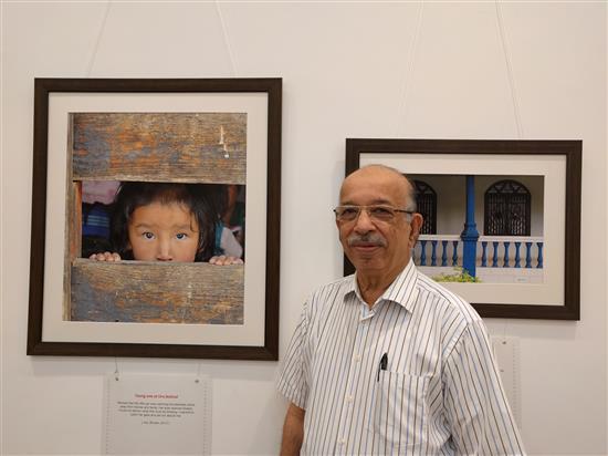 Dr. Harshad Punjani at Milind Sathe's solo photography show at Nehru Centre, Worli, Mumbai (August 2016)