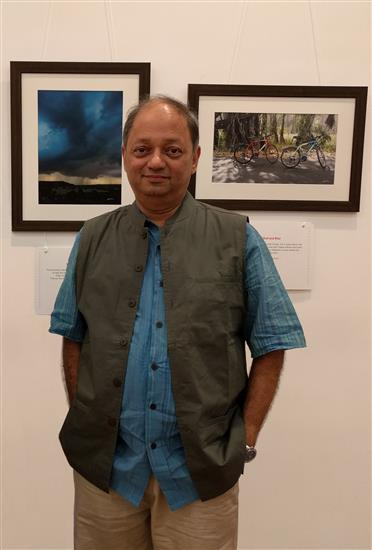 Milind Sathe at his solo photography show at Nehru Centre, Worli, Mumbai - August 2016