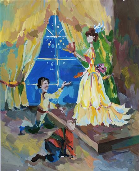 Painting by Russian child artist - 14
