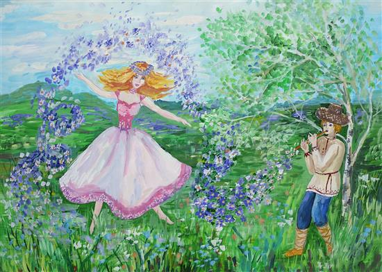 Painting by Russian child artist - 3