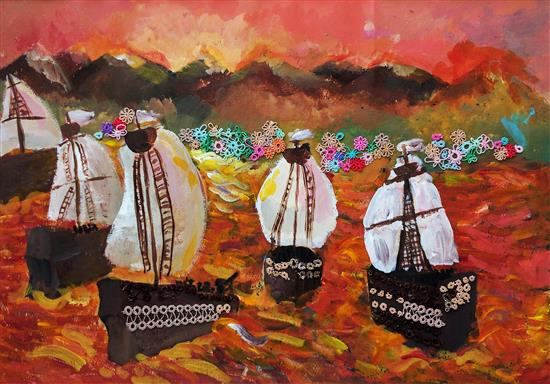 Painting by Russian child artist - 4