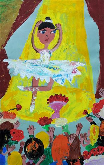 Painting by Russian child artist - 5