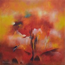 Gulmohar, painting by Bhawana Choudhary