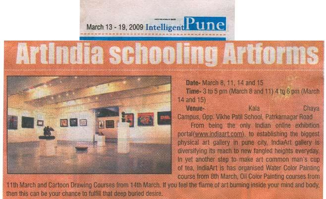 ArtIndia schooling Artforms, Pune Mirror
