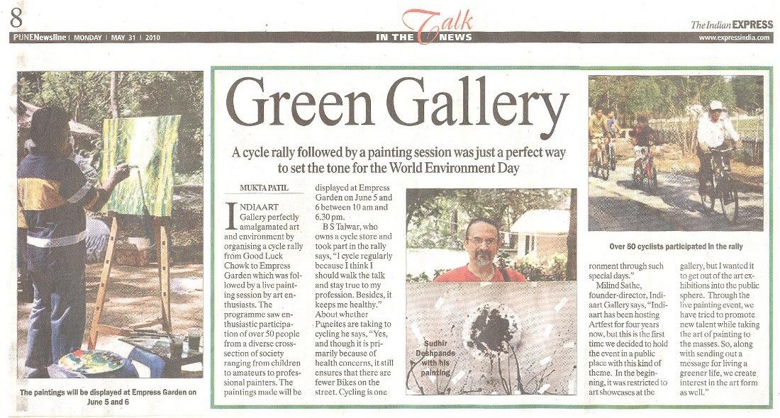 Green Gallery - Event at Empress Garden, Indian Express