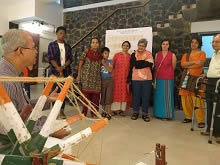 Hand Spinning Demonstration at Indiaart Gallery