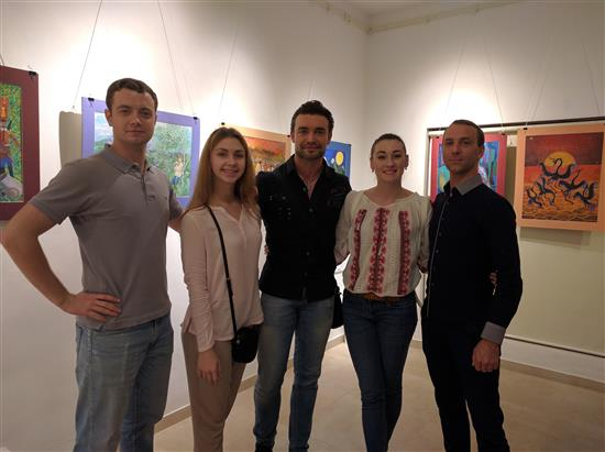 Russian Delegation at Indiaart Gallery
