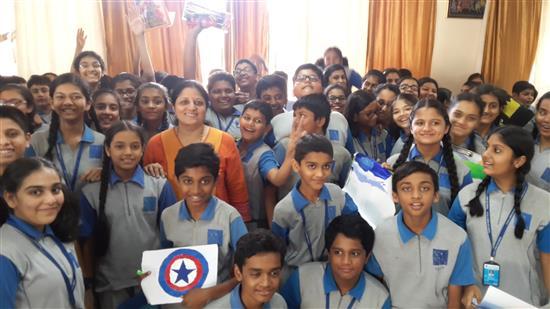 Chitra Vaidya conducted Khula Aasmaan workshop at Orion ICSE School, Mumbai - 5