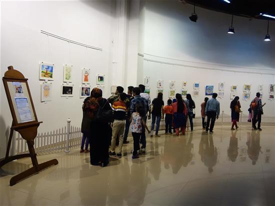 Khula Aasmaan child & young art exhibition at Mumbai - October 2017