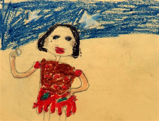Tejaswini Manu Wangad (6 years), Dhamangaon Ashramshala, Taluka Dahanu, Dist. Palghar, Maharashtra