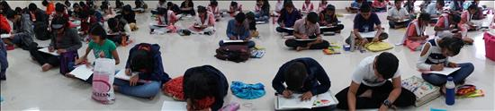 Science Day painting competition - panoramic view