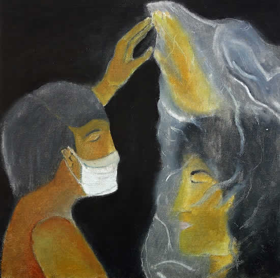 painting by Akashnil Borah