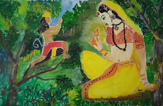 painting by Geetha Devi S