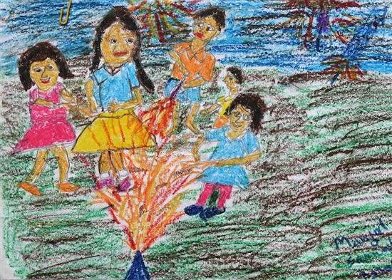painting by Manjul Sarmah Baruah