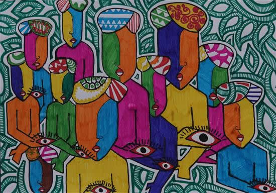 painting by Mukul Kumar