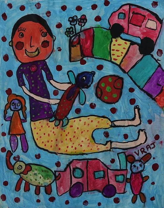 painting by Vraj Mujapara
