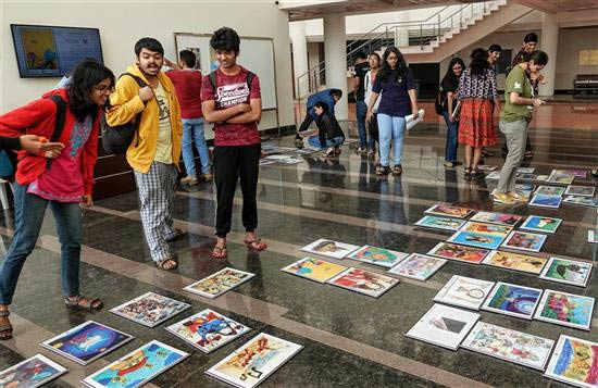 Excitement begins even before the artworks are put up at Khula Aasmaan art exhibition at IISER