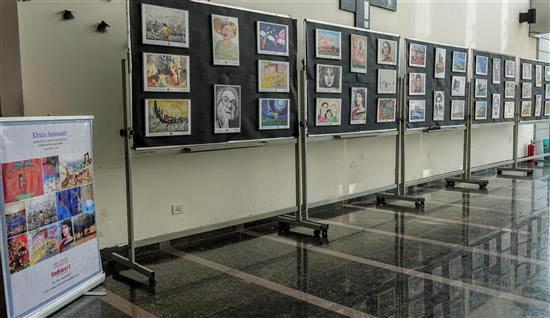 Khula Aasmaan art exhibition display at IISER Pune