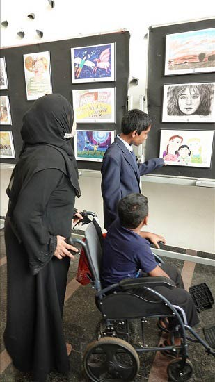 Visiting the art exhibition despite the odds