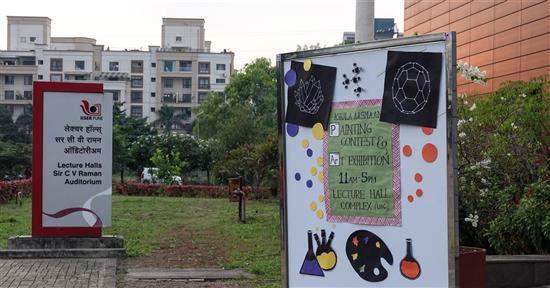 Announcement outside LHC, IISER Pune