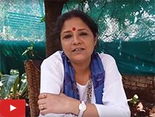 Amala Rai talks to children and their parents