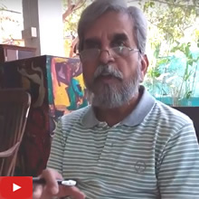 Art on Postcard - Artist Milind Phadke talks about the technical aspects of paintings on a postcard