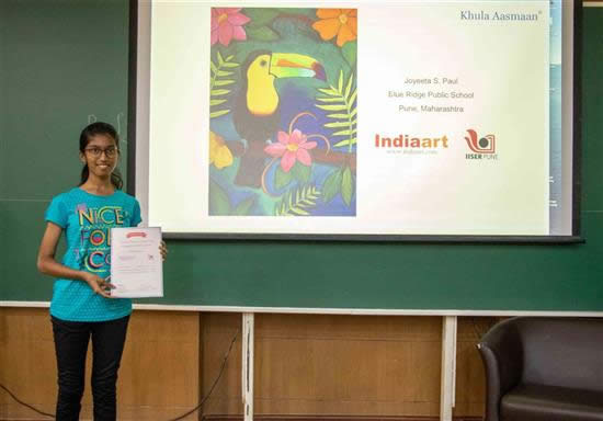 Joyeeta S. Paul with her certificate