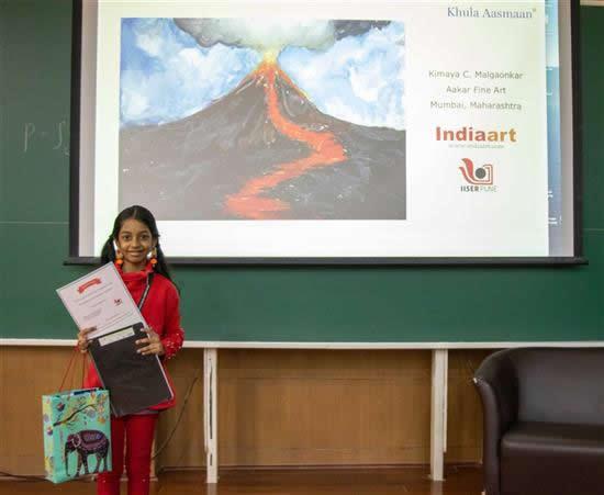 Kimaya C. Malgaonkar with her prize