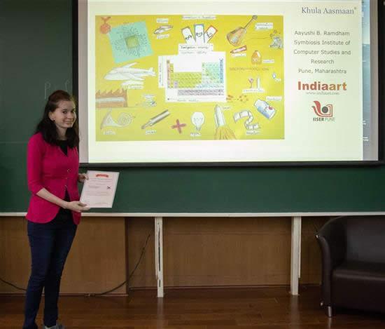 Aayushi B. Ramdham with her certificate