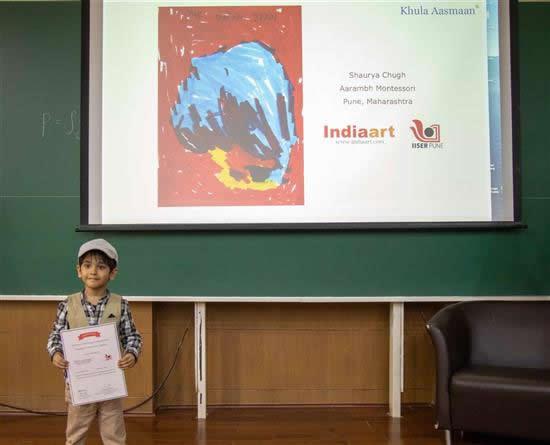 Shaurya Chugh with his certificate