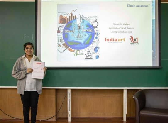 Shefali G. Madkar with her certificate