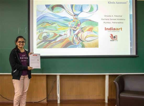 Shweta A. Patankar with her certificate