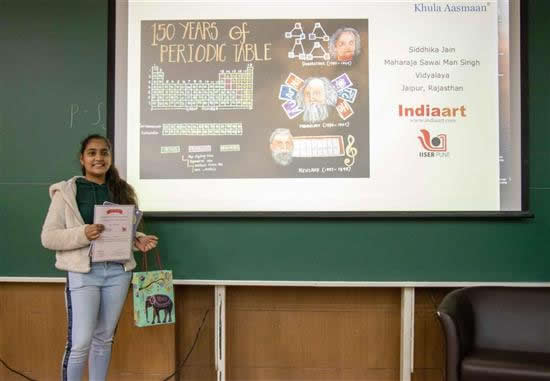 Siddhika Jain with her prize