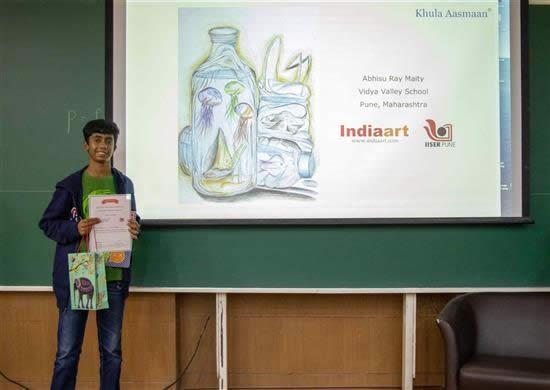 Abhisu Ray Maity with his prize
