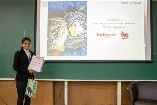 Sornali R. Sanki with her prize