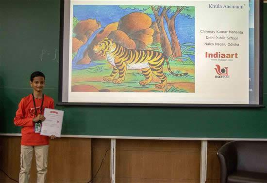 Chinmay K. Mahanta with his certificate