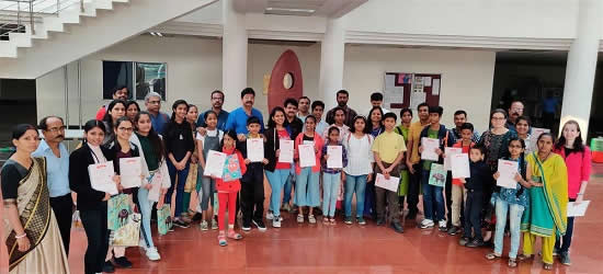 Prize Winners & Shortlisted Students with their Parents at IISER Pune