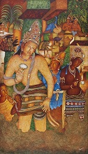 Ajanta - In stock painting
