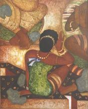 Back figure (Ajanta series), Painting by Vijay Kulkarni