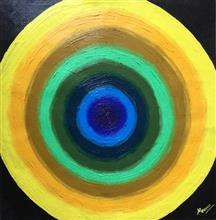 With Depth Comes Darkness, Painting by Madhu Awasthi